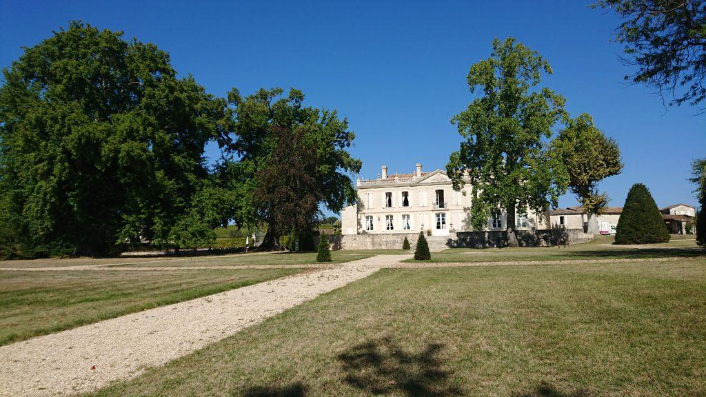 Dans le parc du Château La Dauphine