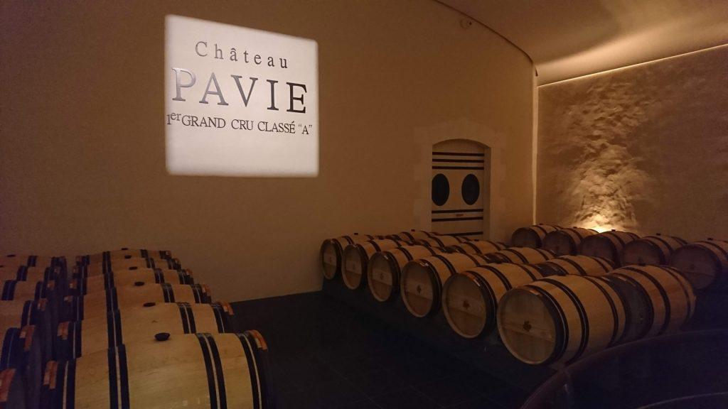 Le chais du Château Pavie
