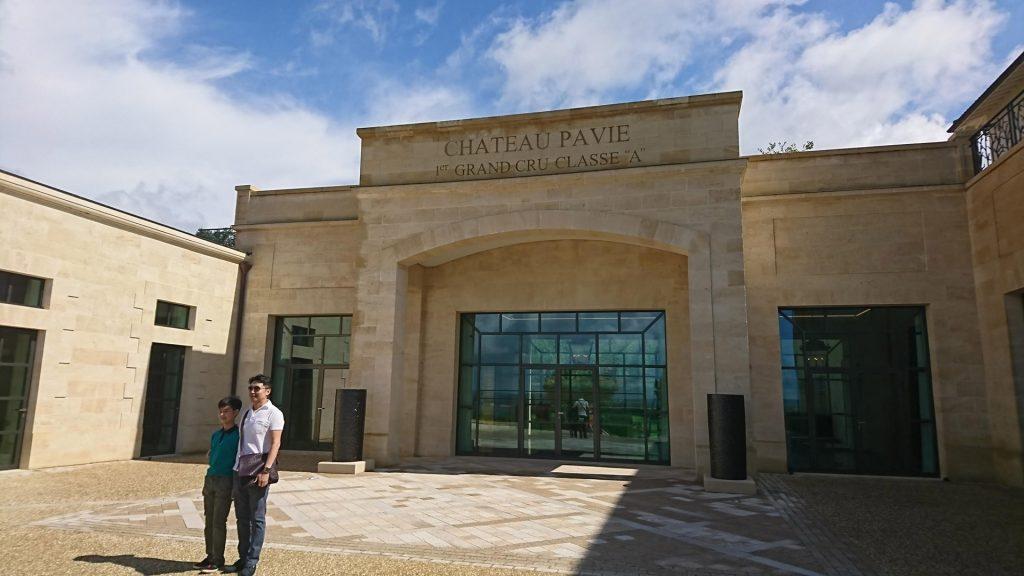 En visite au Château Pavie