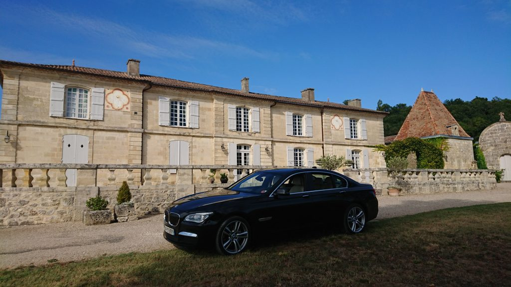 In front of Chateau Lassegue