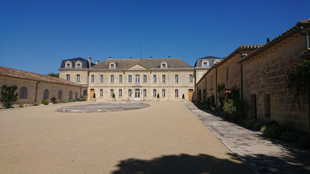 In front of Chateau Soutard